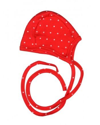 Kojenecká čiapočka Antony - Bodka - červená