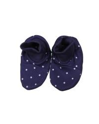 Bavlnené papučky Antony - Bodka - tmavomodré
