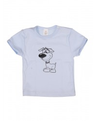 Tričko krátky rukáv - Pes - modré
