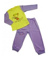 Pyžamo Antony - dievčatko  - žlto-fialové