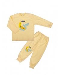Pyžamo Antony Macko na mesiaci - žlté