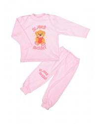 Pyžamo Antony Macko so srdcom - sladké sníčky - ružové