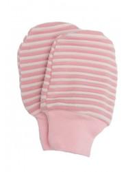 Kojenecké rukavičky Antony (pásik) - ružové