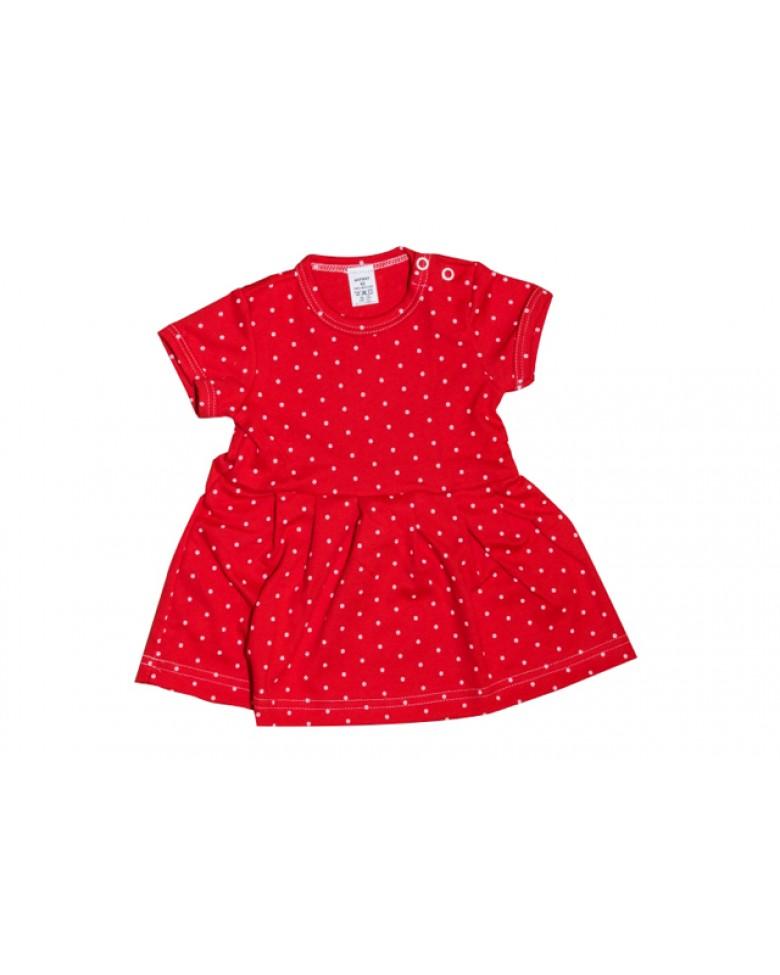 9750f30b7c3a Letné šaty Antony - bodka - červené