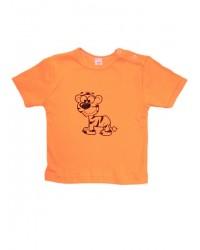 Tričko Antony krátky rukáv - Tigrík - oranžové