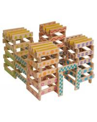 100-dielna drevená stavebnica Boikido