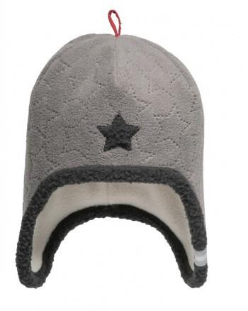 Čiapka Lodger Fleece Stars Greige 0-3m