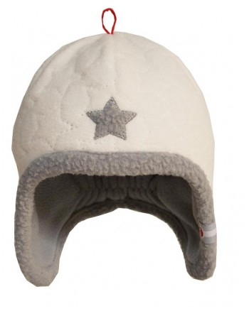 Čiapka Lodger Fleece Stars Off White 0-3m