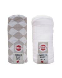 Osuška Lodger Swaddler - Shell/White 2ks