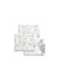 Mušelínové plienky Mamas&Papas - Zajačiky 3ks