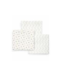 Mušelínové plienky Mamas&Papas - Geometrický vzor 3ks