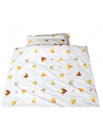 2-dielna posteľná súprava Odenwälder - Kuriatka béžové