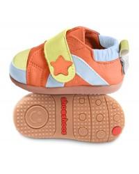 Kožené topánočky Shooshoos - Orange Lime Sneaker - 19