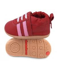 Kožené topánočky Shooshoos - Red Sport / Pink Stripes