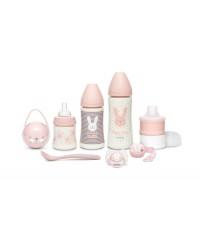 Suavinex HYGGE Ružový Novorodenecký set Premium