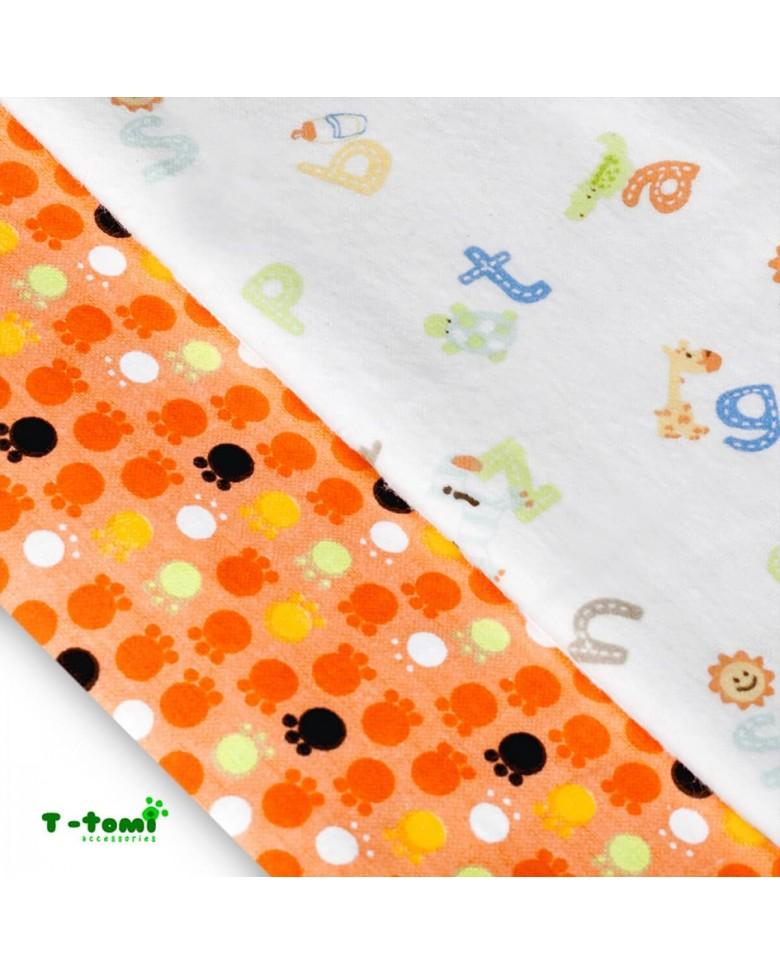 8b96ed054228a Flanelové plienky T-tomi - Oranžové labky   DADAAA.sk detský eshop