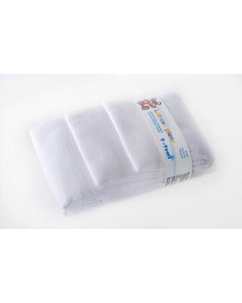 Flanelové plienky T-tomi - Biele