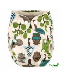 Bambusové plienkové nohavičky T-tomi All in One + 2 bambusové vkladacie plienky - Stromy