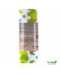 Bambusová osuška T-tomi - Zelení sloni