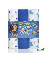 Látkové TETRA plienky T-tomi - TOP KVALITA - Modré žirafy