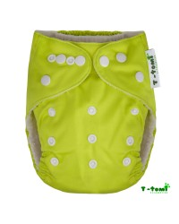 Bambusové plienkové nohavičky T-tomi All in One + 2 bambusové vkladacie plienky - Zelená
