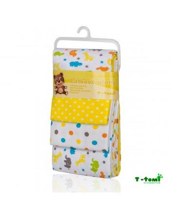 Flanelové plienky T-tomi - Žlté žirafy