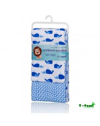 Flanelové osušky T-tomi - Modrý oceán