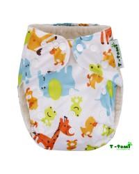 Bambusové plienkové nohavičky T-tomi All in One + 2 bambusové vkladacie plienky - ZOO