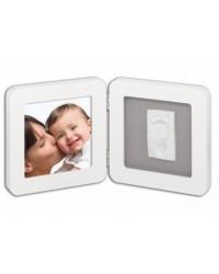Baby Art Print Frame zaoblený - White&Grey