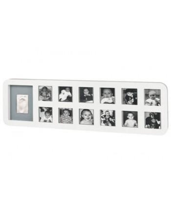 Baby Art 1st Year Print Frame - White&Grey