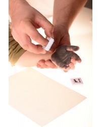 Farba na detské odtlačky šedá Baby Dab