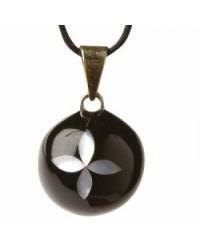 Mexický prívesok BOLA pre tehotné ženy - black pearl flower