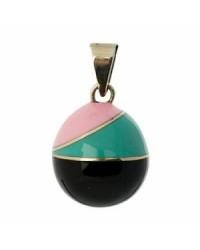 Mexický prívesok BOLA pre tehotné ženy - black green pink vintage