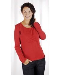 Dojčenské tričko s dlhým rukávom Carriwell KAJ - ČERVENÉ