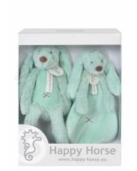 Darčekový set Happy Horse Zajačik Richie tyrkysový