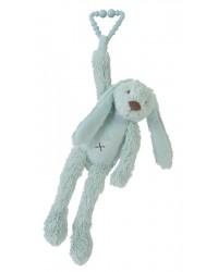 Hračka na zavesenie HAPPY HORSE Tyrkysový zajko RICHIE