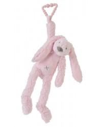 Hračka na zavesenie HAPPY HORSE Ružový zajko RICHIE