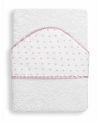 Froté osuška Interbaby Hviezda - bielo/ružová