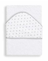 Froté osuška Interbaby Hviezda - bielo/šedá