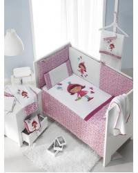 2-dielna posteľná súprava Interbaby - Kvietkované dievčatko