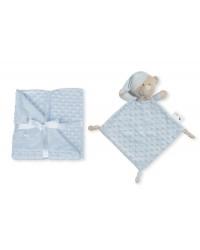 Interbaby Mäkká deka s guličkami a maznáčikom - Modrá