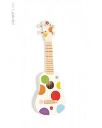 Janod Drevené ukulele Confetti so reálnym zvukom
