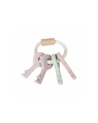 Little Dutch Drevené kľúče - Pink
