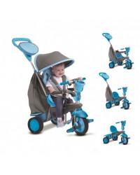 SMART TRIKE Trojkolka Swing Touch Steering 4v1 - Modro-šedá