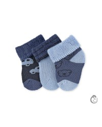 Kojenecké froté ponožky Sterntaler - chlapec 3páry
