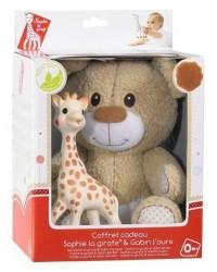 Vulli Set plyšový macko Gabin + žirafa Sophie