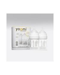 Dojčenská fľaša YOOMI 140ml - 2ks (bez ohrievača)