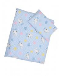 Obliečky Antony (modro-biela) - Mačička