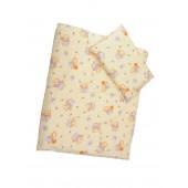 Obliečky Antony (žltá) - Macko s medom