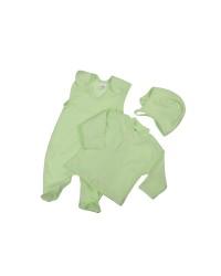 Trojdiela súprava Antony (jednofarebná) - zelená